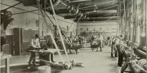 Photo from 1909 in a factory