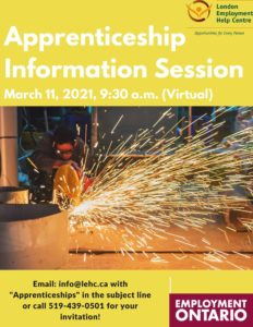 Register for the LEHC Apprenticeship info session. Email info@lehc.ca for your invitation