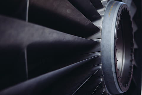 Close-up shot of an air conditioner propeller