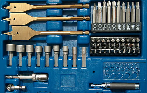Tools in a case